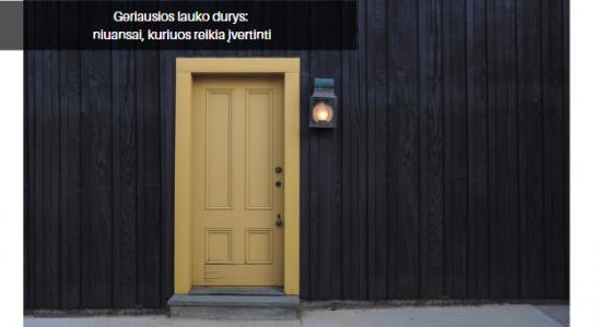 Geriausios lauko durys